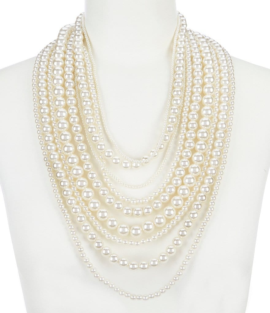 Anna & Ava Regina Pearl Statement Necklace