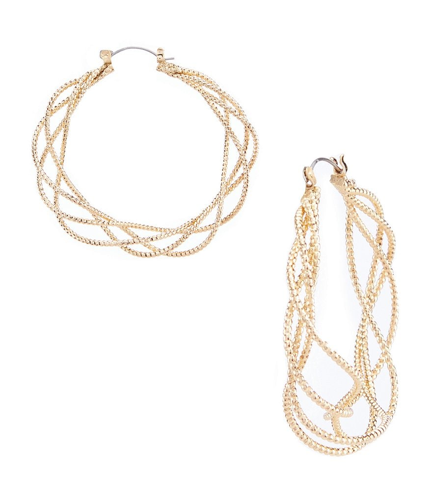 Anna & Ava Rose Gold Entwined Hoop Earring