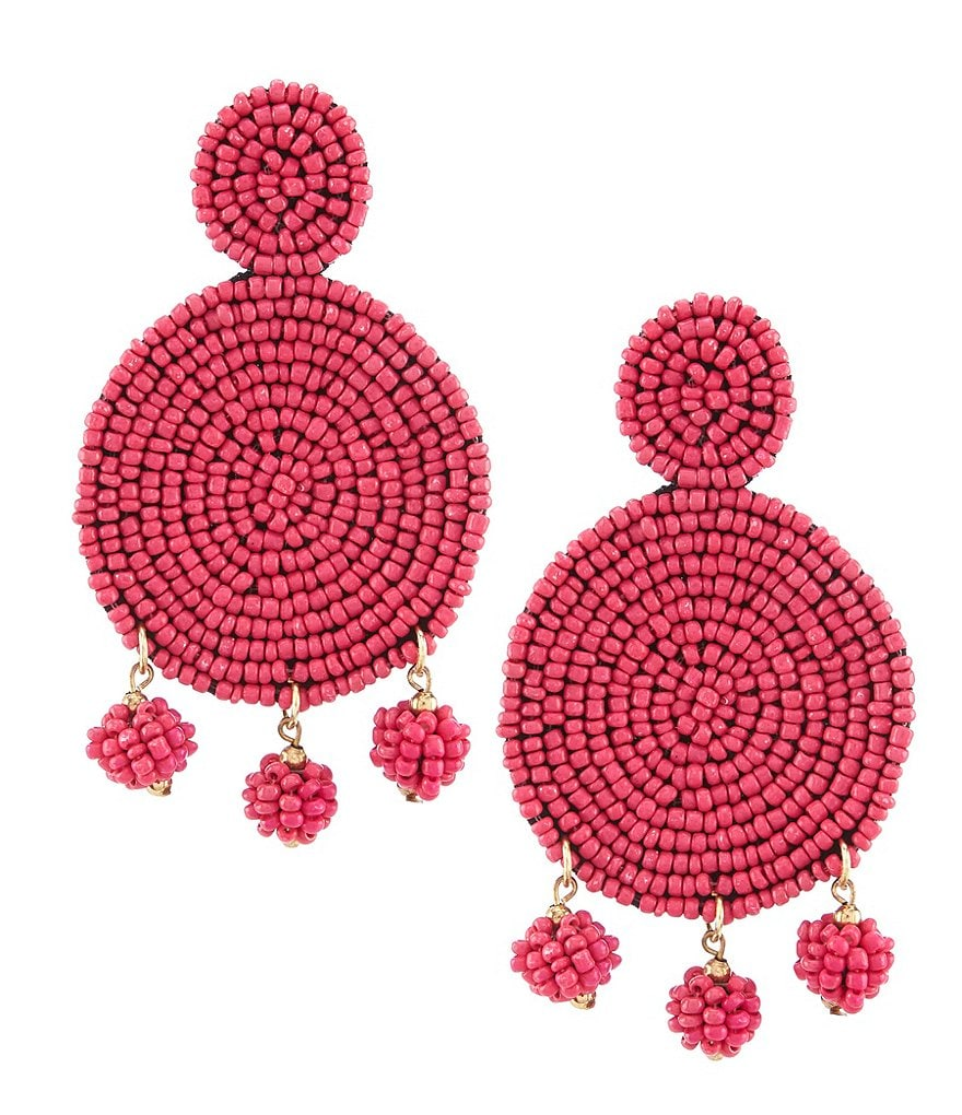Anna & Ava Seed Bead Statement Earrings
