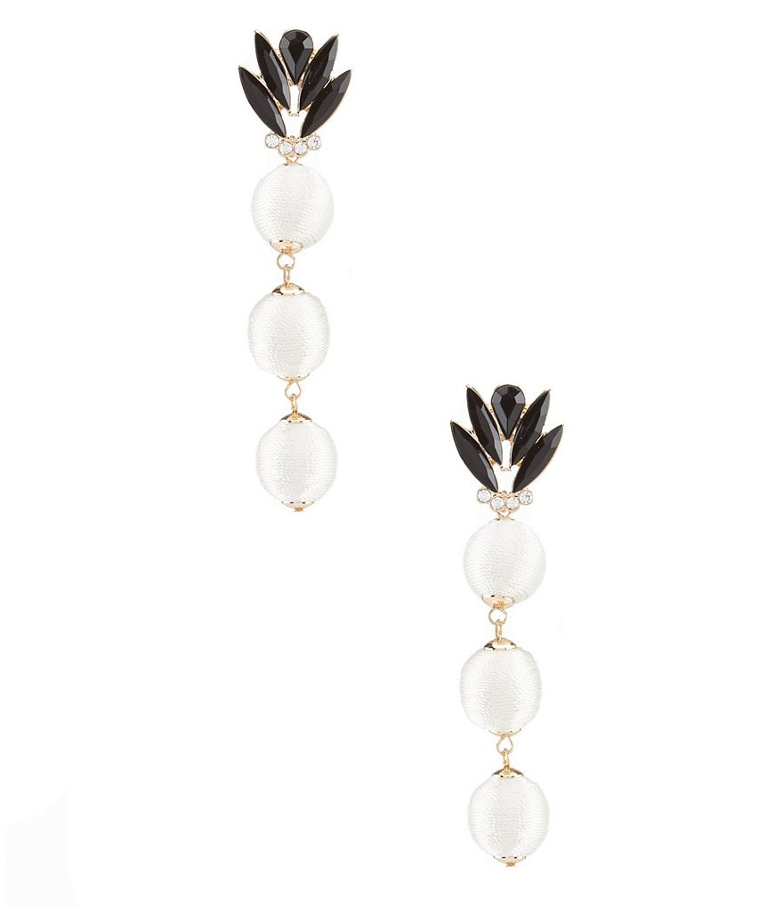 Anna & Ava Thread-Wrapped Ball Statement Drop Earrings