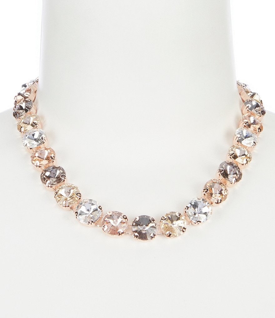 Anne Klein 16#double; Stone Collar Necklace