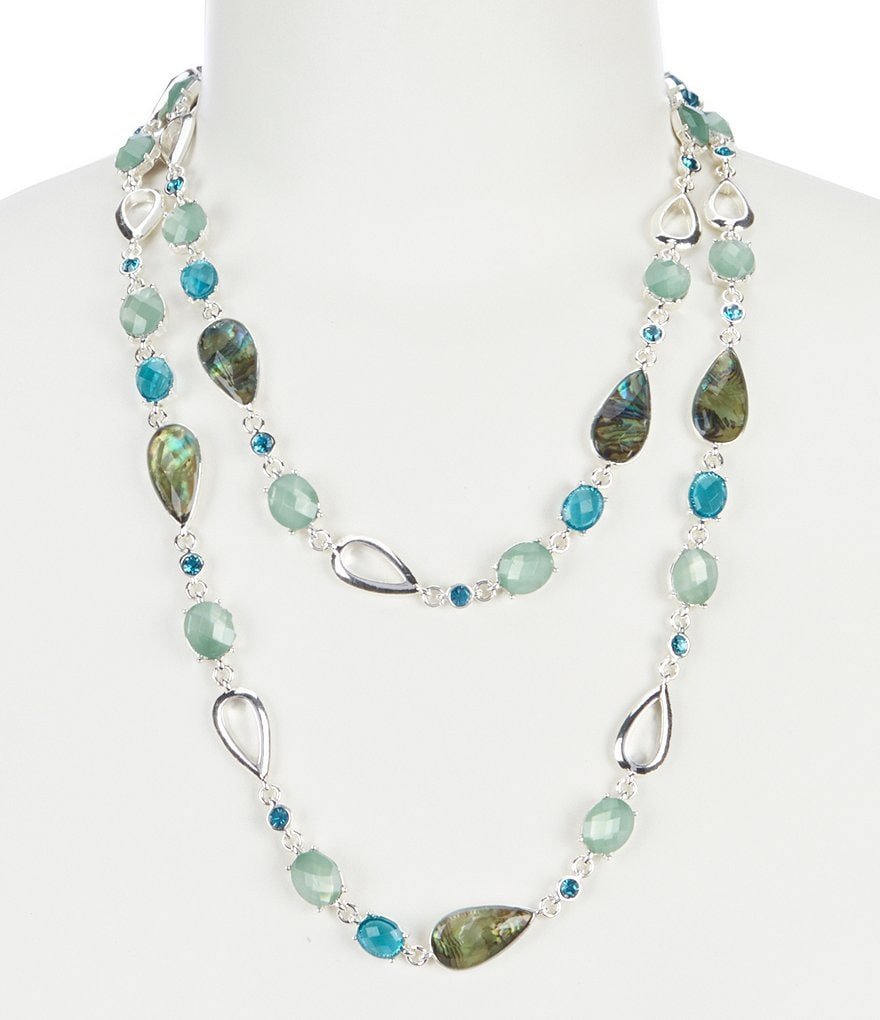 Anne Klein Abalone 42#double; Necklace