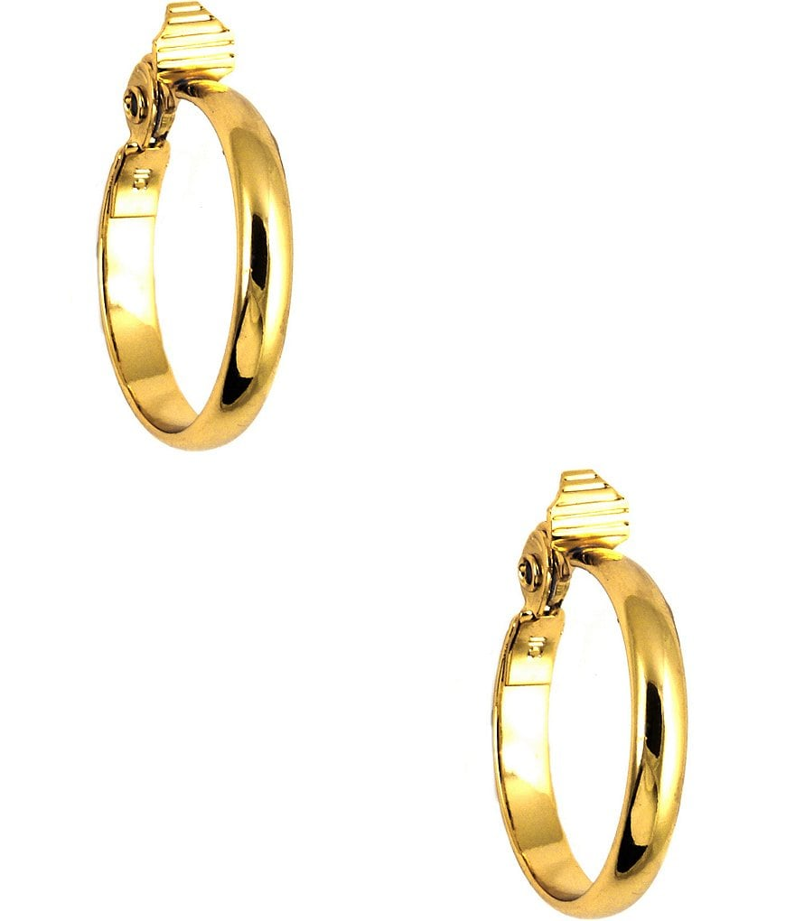 jewelry clip amazon inch silver com hypoallergenic plated dp gold hoop earrings or on