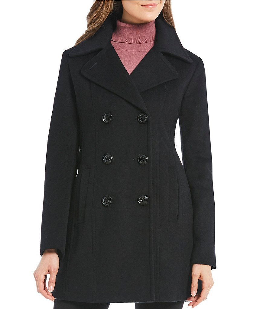 Anne Klein Double Breasted Peacoat