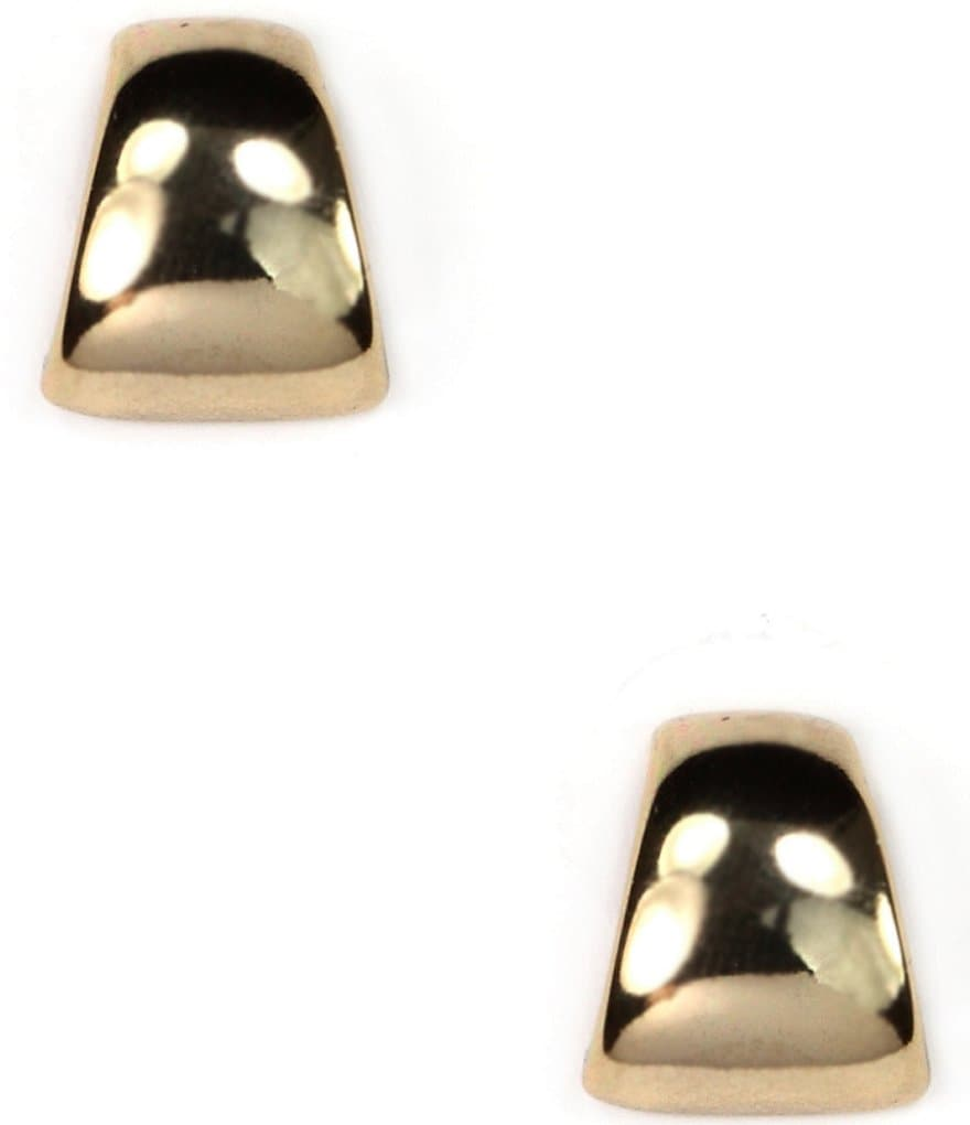 Anne Klein Gold Button Post Earrings