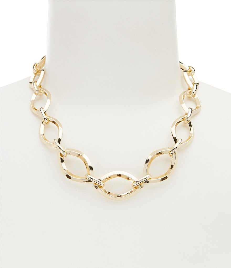 Anne Klein Chain-Link Collar Necklace