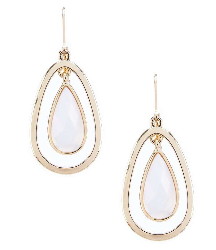 Anne Klein Lever Back Teardrop Earrings