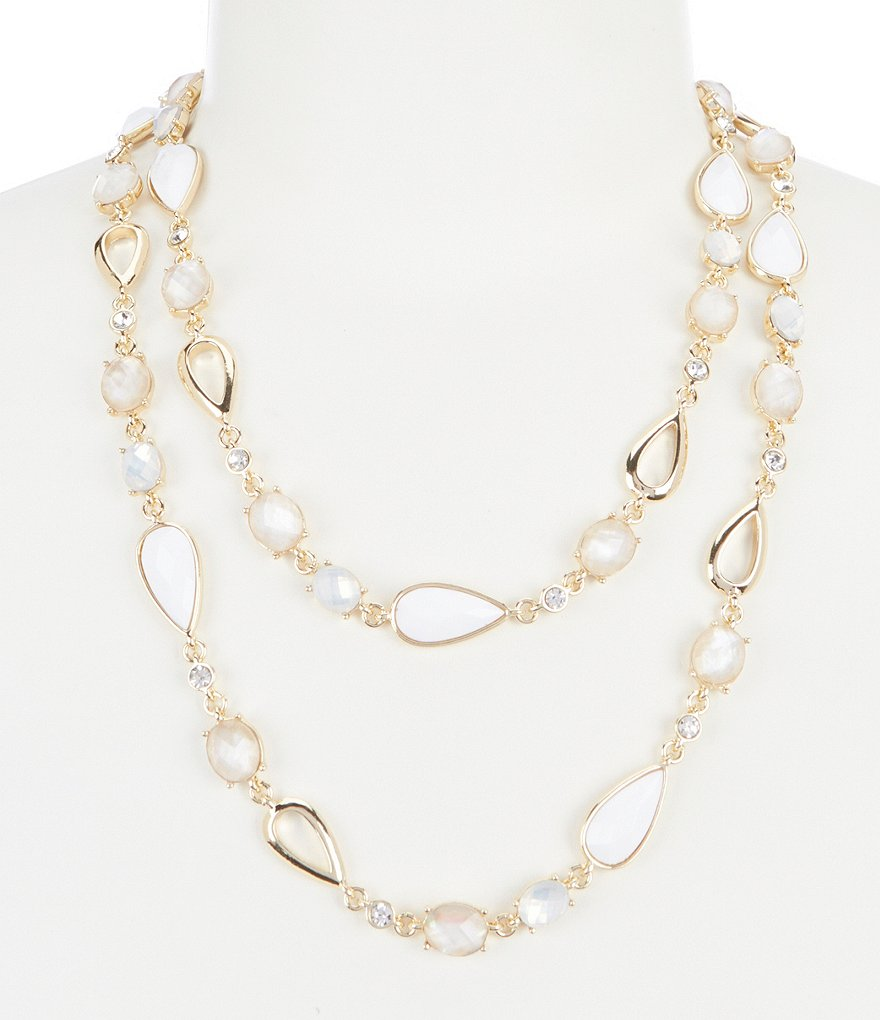 Anne Klein Long Strand Necklace
