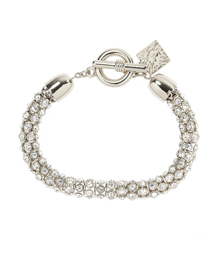 Anne Klein Pavé Crystal Toggle Bracelet