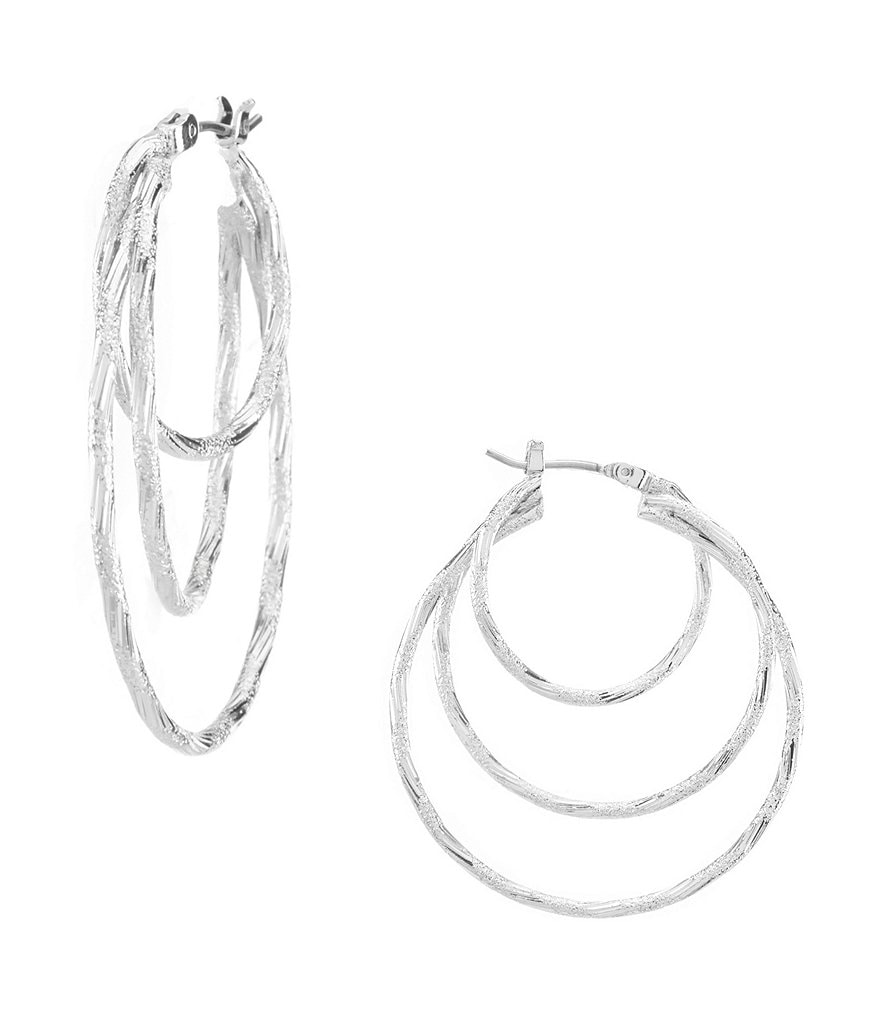 Anne Klein Triple-Ring Hoop Earrings
