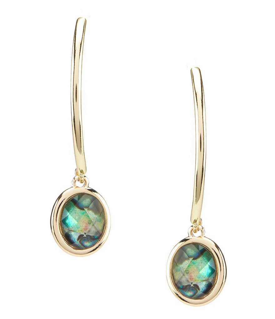 Anne Klein Turquoise Threader Drop Earrings