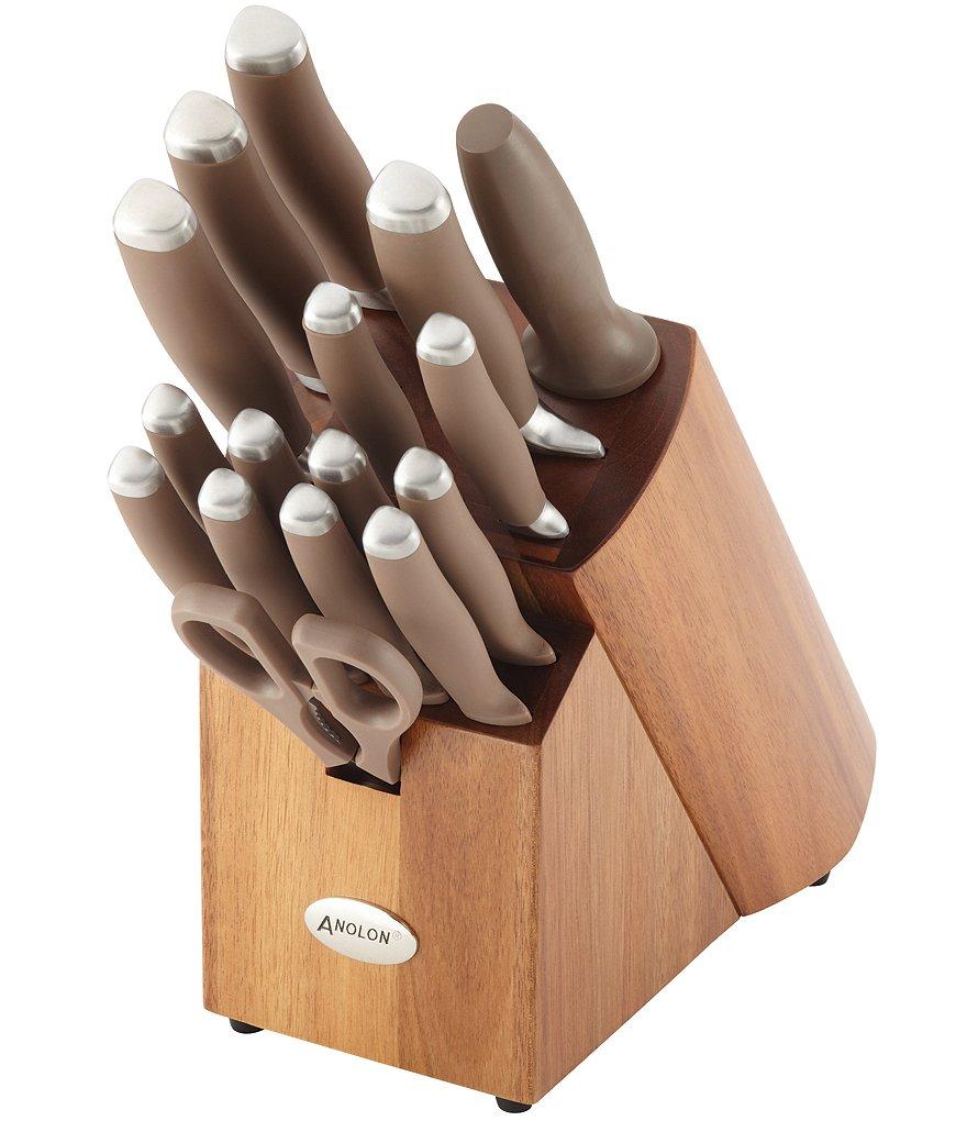 Anolon Suregrip 17 Piece Stainless Steel Cutlery Block Set