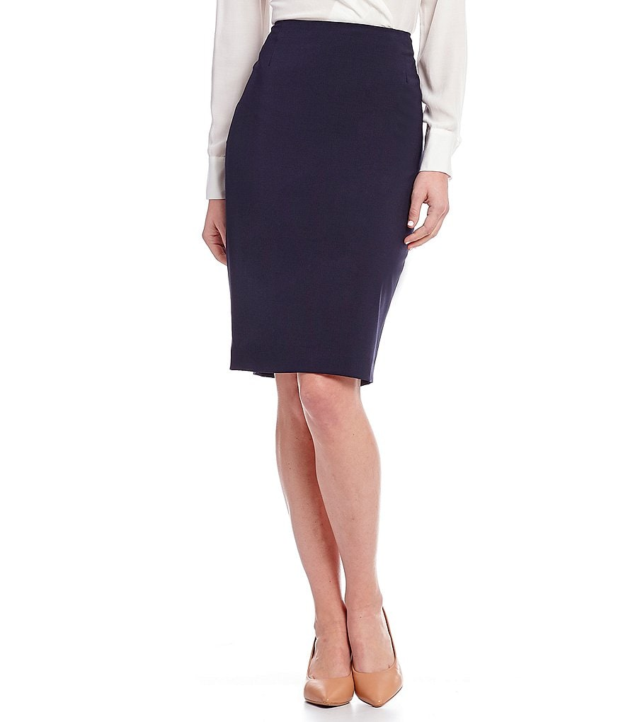 Antonio Melani Dark Navy Ace Pencil Skirt
