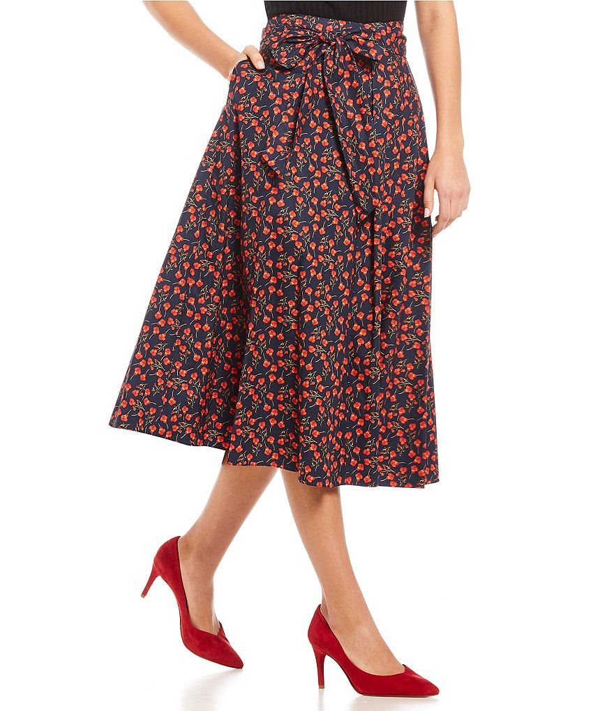 Antonio Melani Charlotte Floral Print Midi Skirt Made With Liberty Fabrics