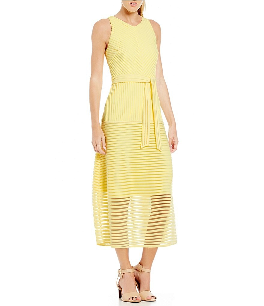 Antonio Melani Enid Sleeveless Striped Mesh Dress
