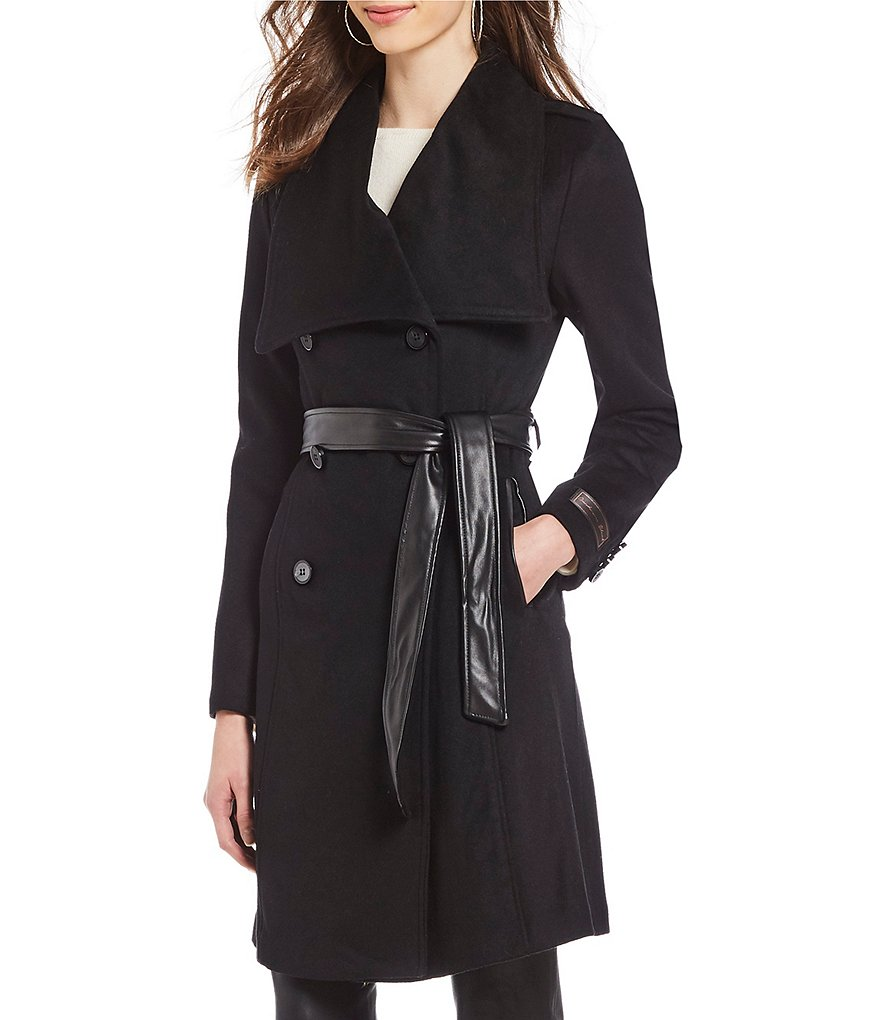 Antonio Melani Envelope Collar Wrap Coat