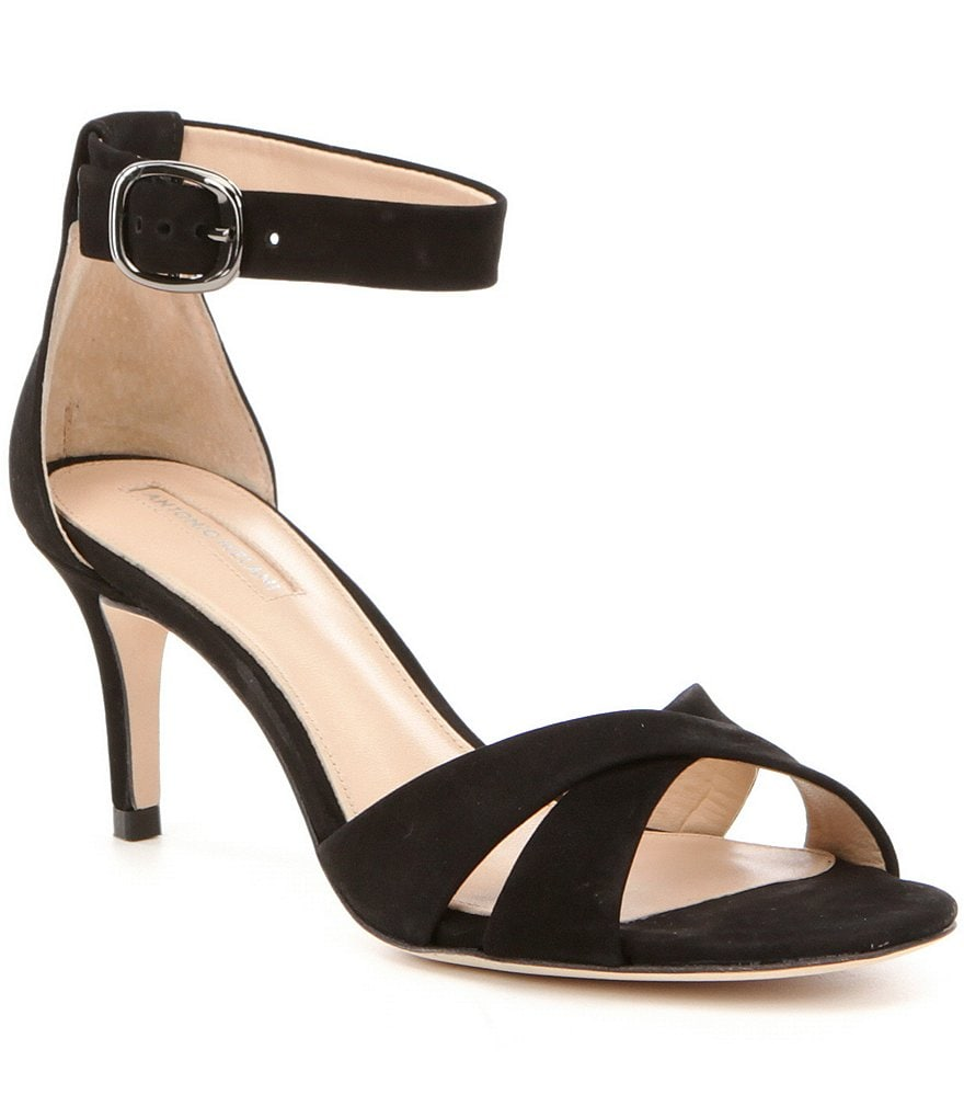 Antonio Melani Evitah Nubuck Ankle Strap Dress Sandals | Dillards