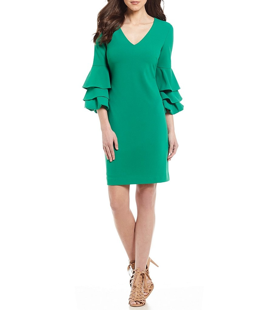 Antonio Melani Funs Tiered Bell Sleeve Dress