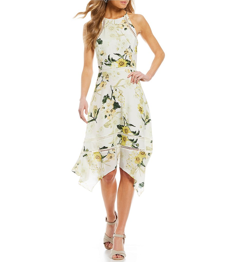 Antonio Melani Jayden Floral Print Silk Dress