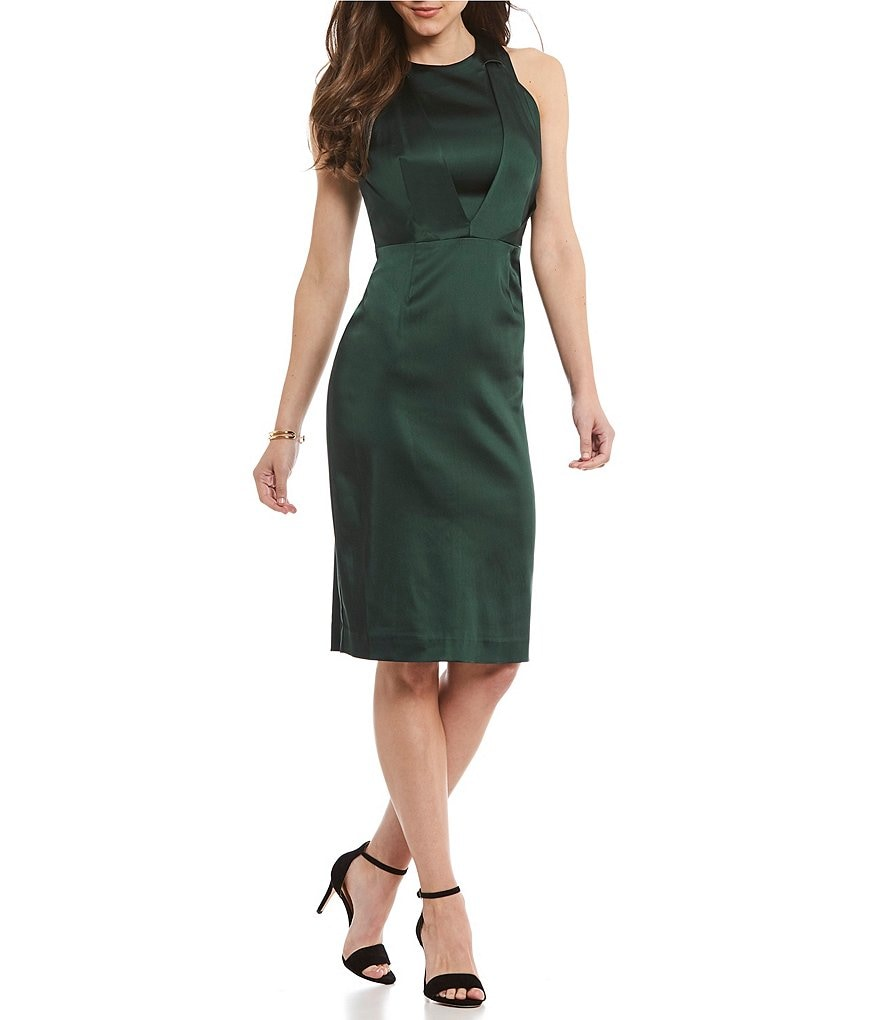 Antonio Melani Josie Stretch Satin Sheath Dress