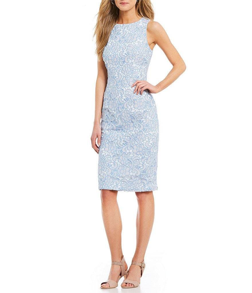 Antonio Melani Marble Two Tone Lace Midi Dress