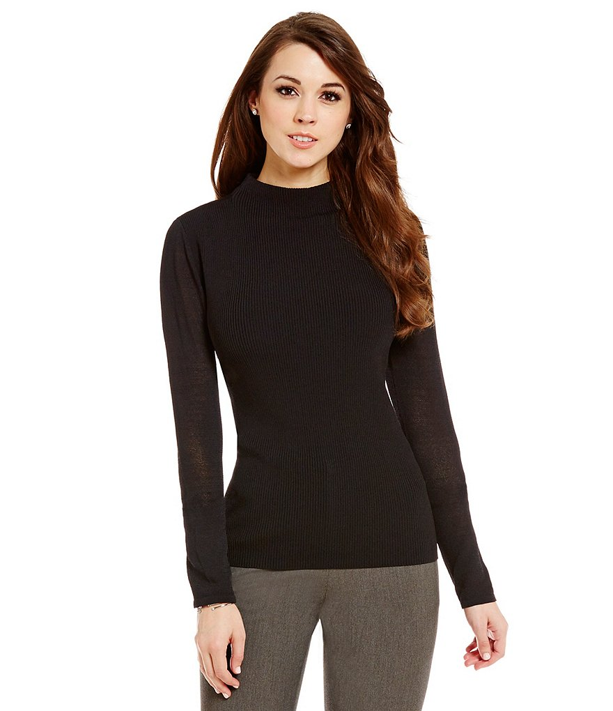 Antonio Melani Marcia Knit Mock Neck Long Sleeve Top