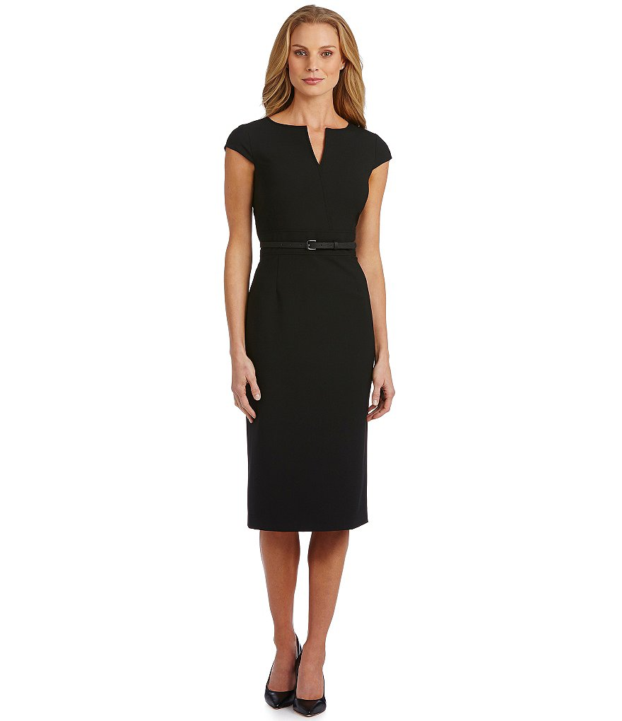 Antonio Melani Melissa Belted Midi Dress