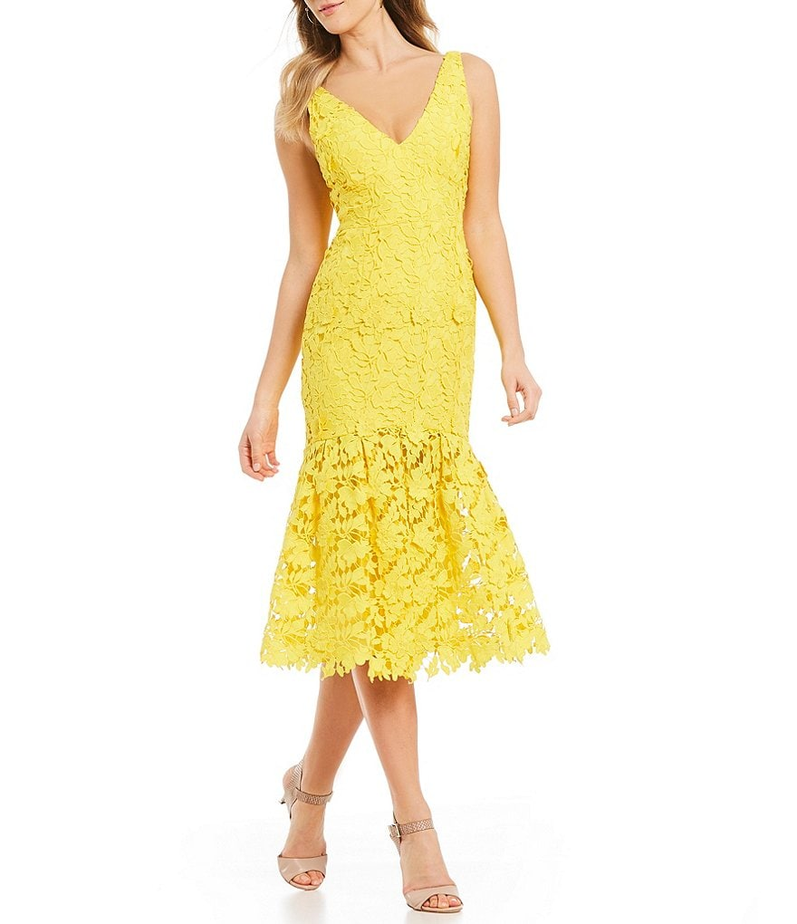 Antonio Melani Namara Lace Midi Dress