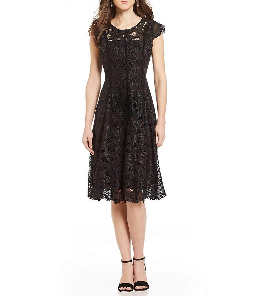 Antonio Melani Nicee Embroidered Georgette Dress
