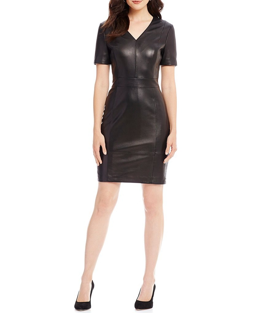 Antonio Melani Black and White - with Metallic On Used Once Work/Office Dress.