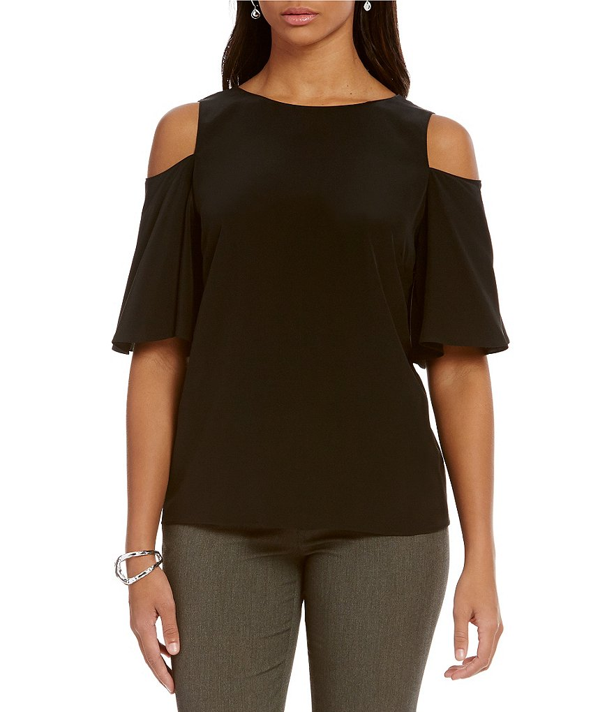 Antonio Melani Rowena Cold-Shoulder Silk Blouse