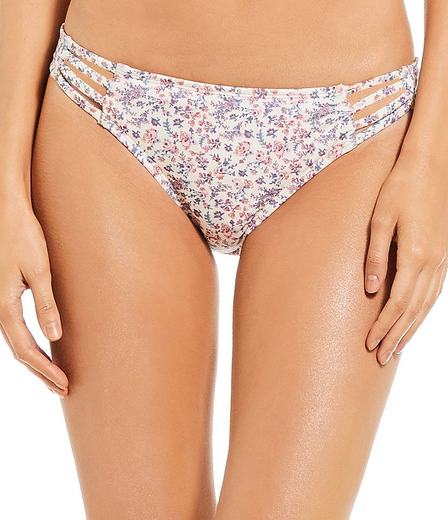 Antonio Melani Sea Rose Front Cut-Out Tab Hipster Bikini Swimsuit Bottom Made With Liberty Fabrics
