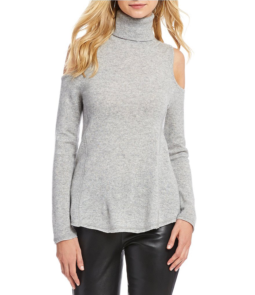 Antonio Melani Luxury Collection Sherry Cold Shoulder Cashmere Sweater