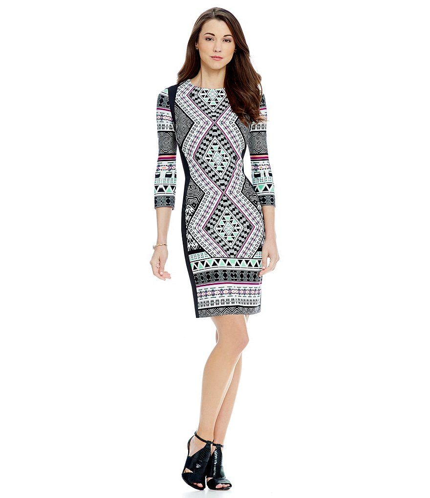 Antonio Melani Tess Printed Scuba Sheath Dress