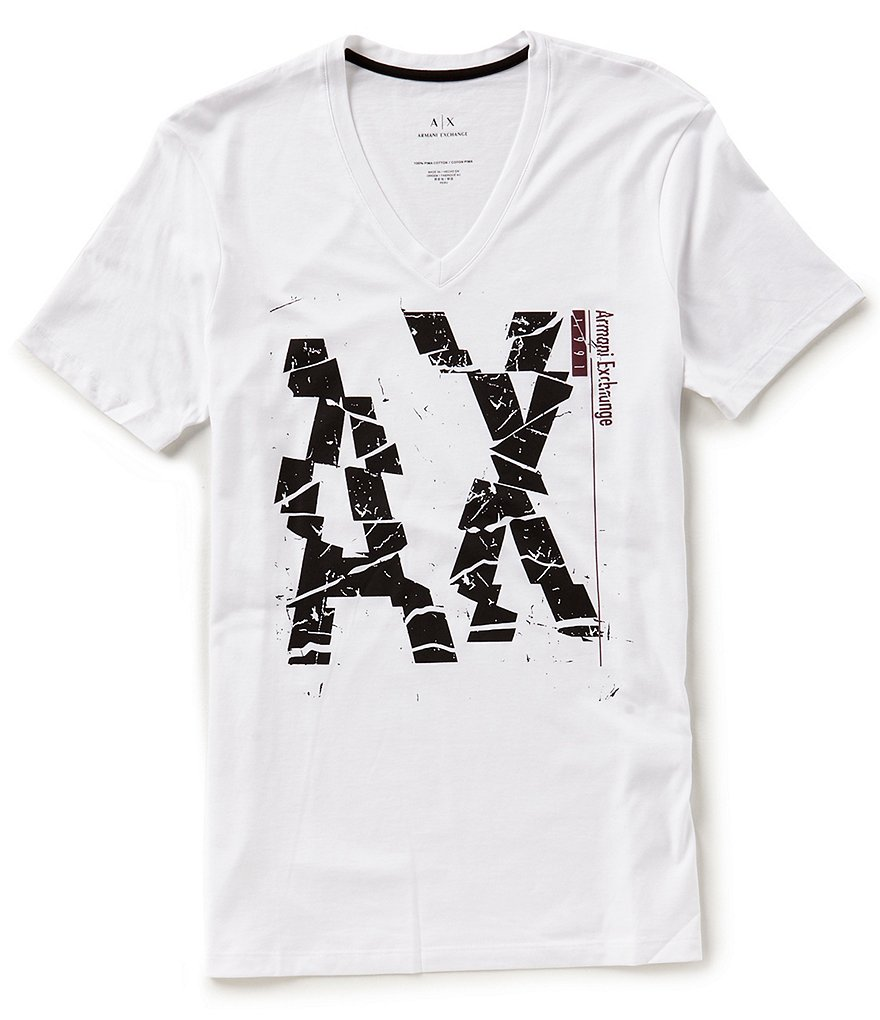 Armani Exchange Broken Logo Short-Sleeve Tee