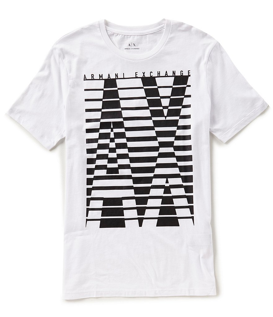 Armani Exchange Caged Logo Short-Sleeve Tee