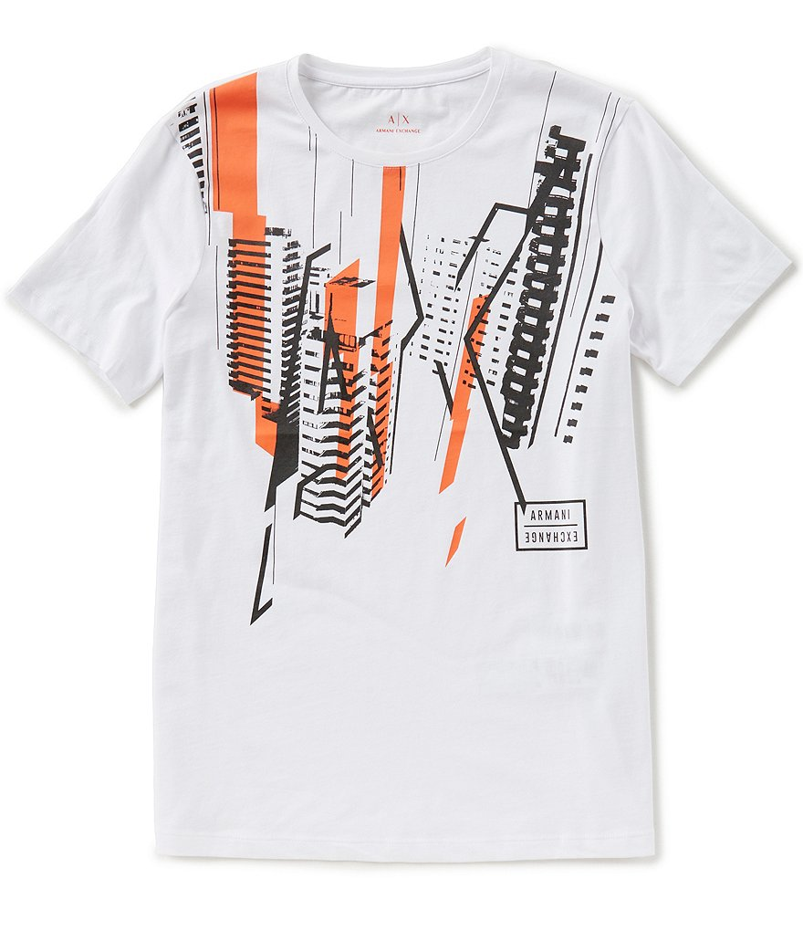 Armani Exchange Cityscape Short-Sleeve Tee