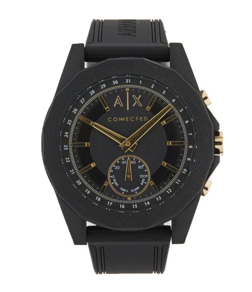 Armani Exchange Connected Silicone-Strap Hybrid SmartWatch