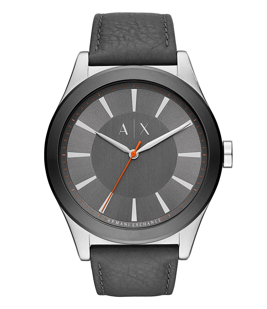 Armani Exchange Nico Gray Strap Watch