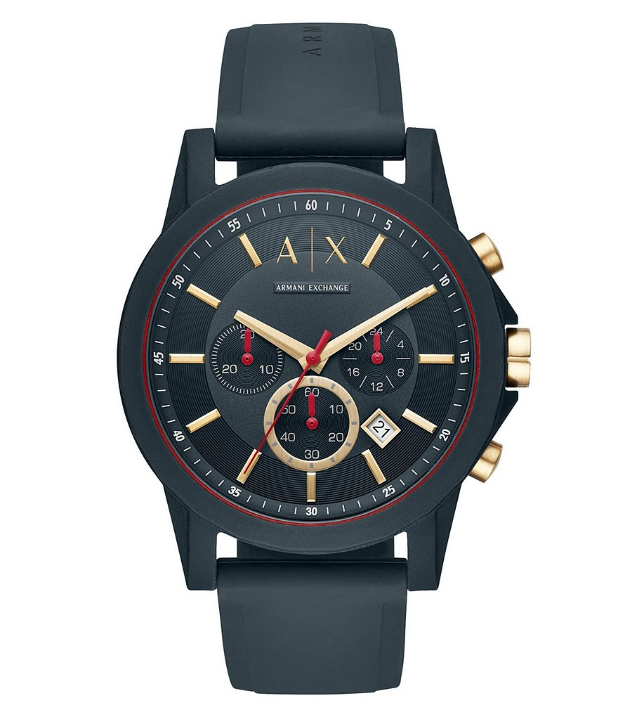 Armani Exchange Outerbanks Blue Silicone Watch