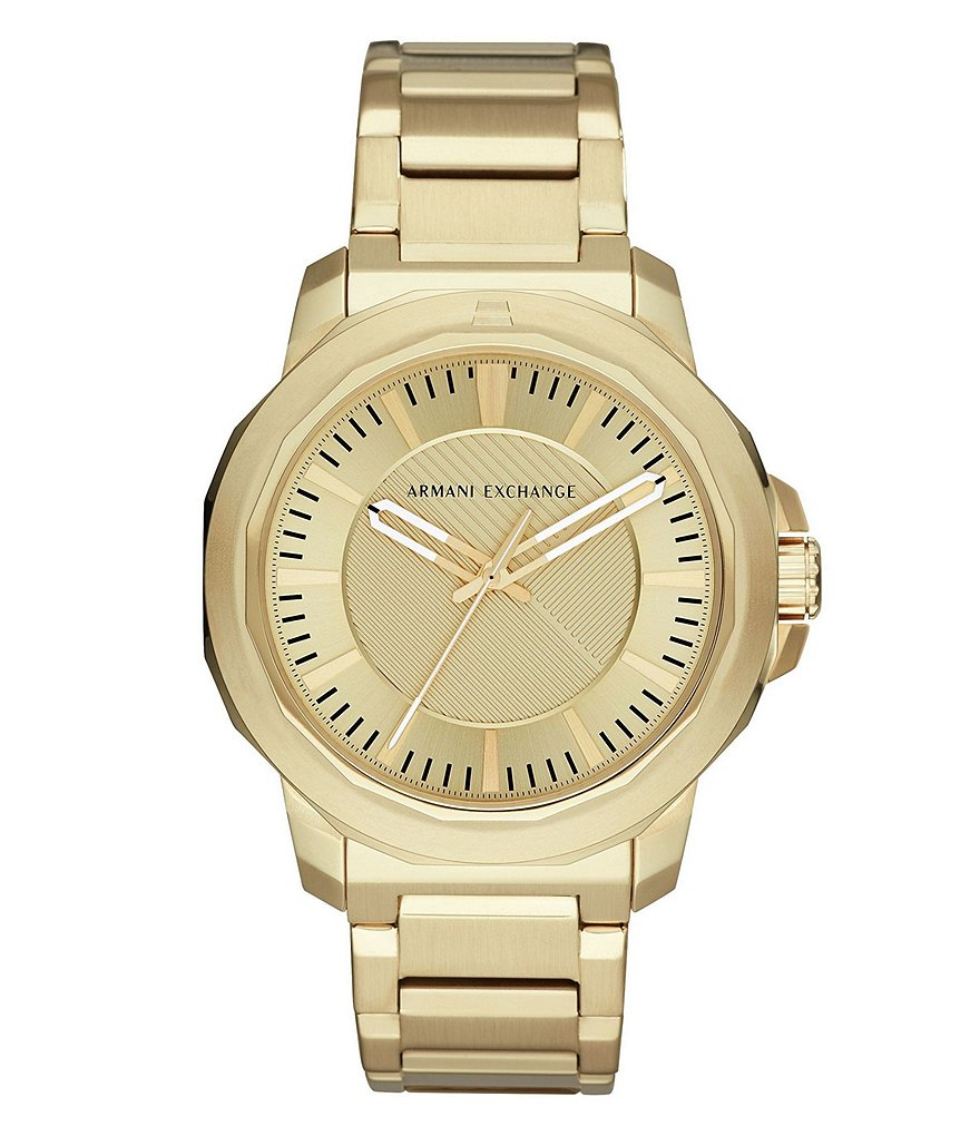 Armani Exchange Ryder Gold Bracelet Watch
