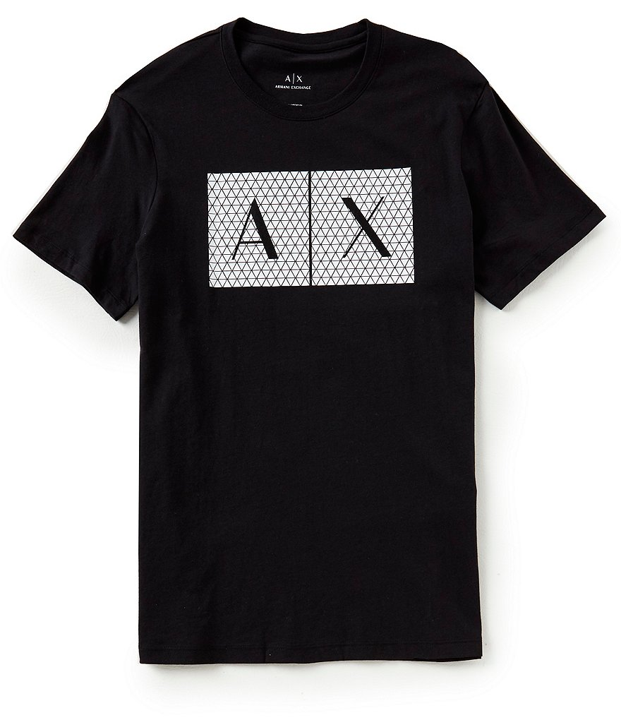 Armani Exchange Slim-Fit Shattered Logo Short-Sleeve Tee