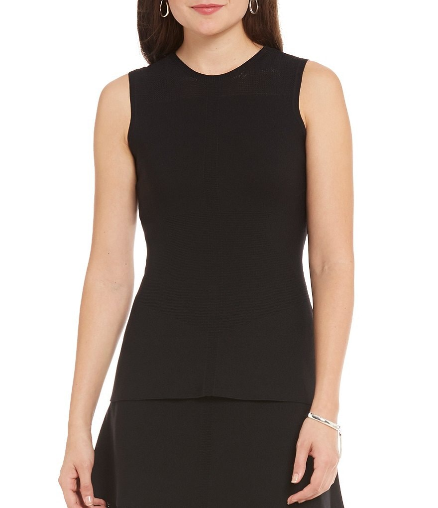Armani Exchange Woven Peplum Sleeveless Top