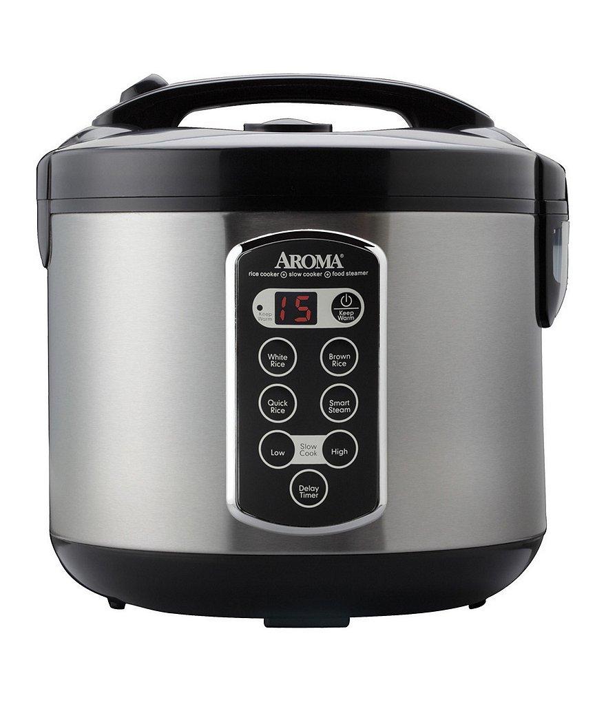 aroma 20 cup sensor logic rice cooker food steamer dillards. Black Bedroom Furniture Sets. Home Design Ideas