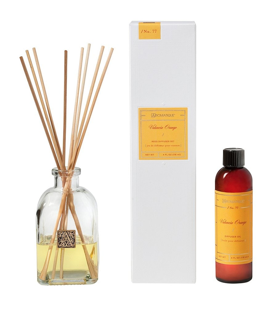 Aromatique Valencia Orange Reed Diffuser Set