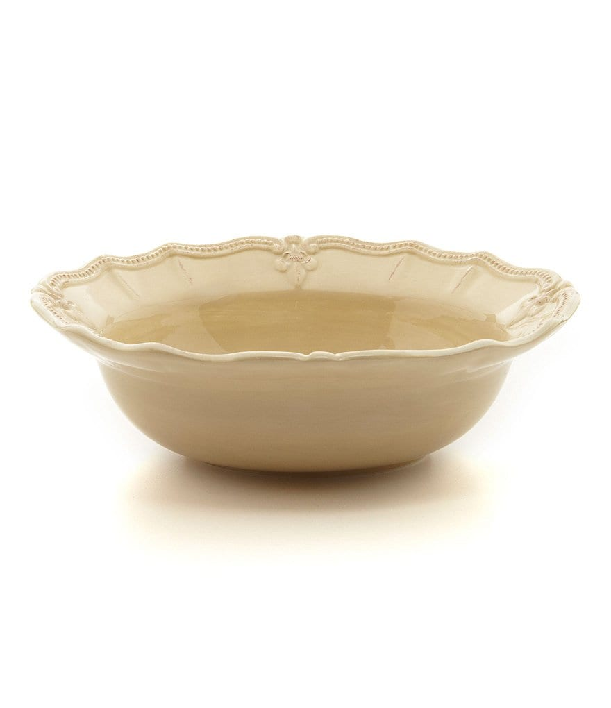 Artimino Fleur-de-Lis Beveled Earthenware Serving Bowl