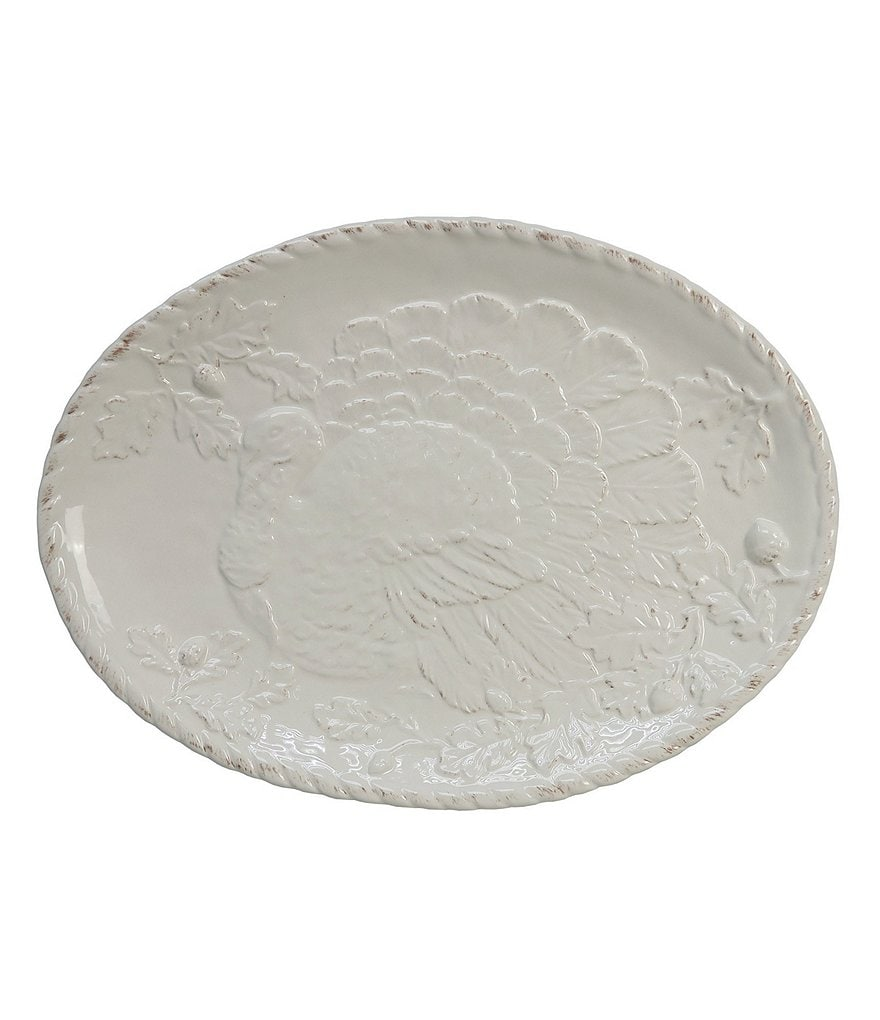 Artimino Harvest Turkey-Embossed Platter