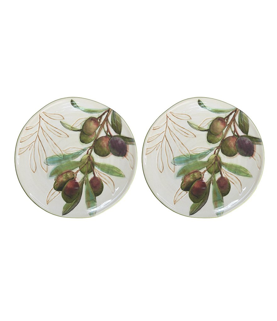 Artimino 2-Piece Olive Salad Plate Set