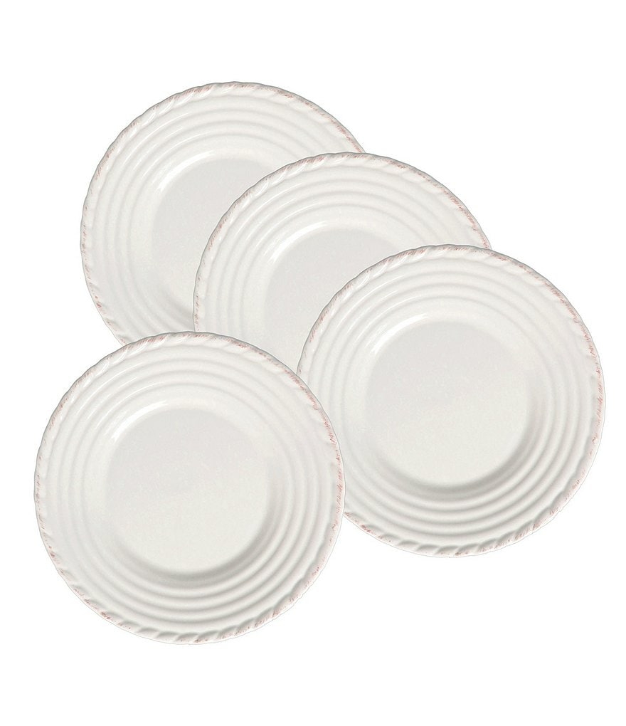 Artimino 4-Piece Tuscan Countryside Rope-Edged Stoneware Dinner Plate Set  sc 1 st  Dillardu0027s : white stoneware dinner plates - Pezcame.Com