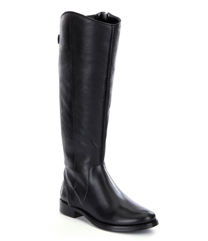 Arturo Chiang Falicity Exposed Zipper Riding Boots